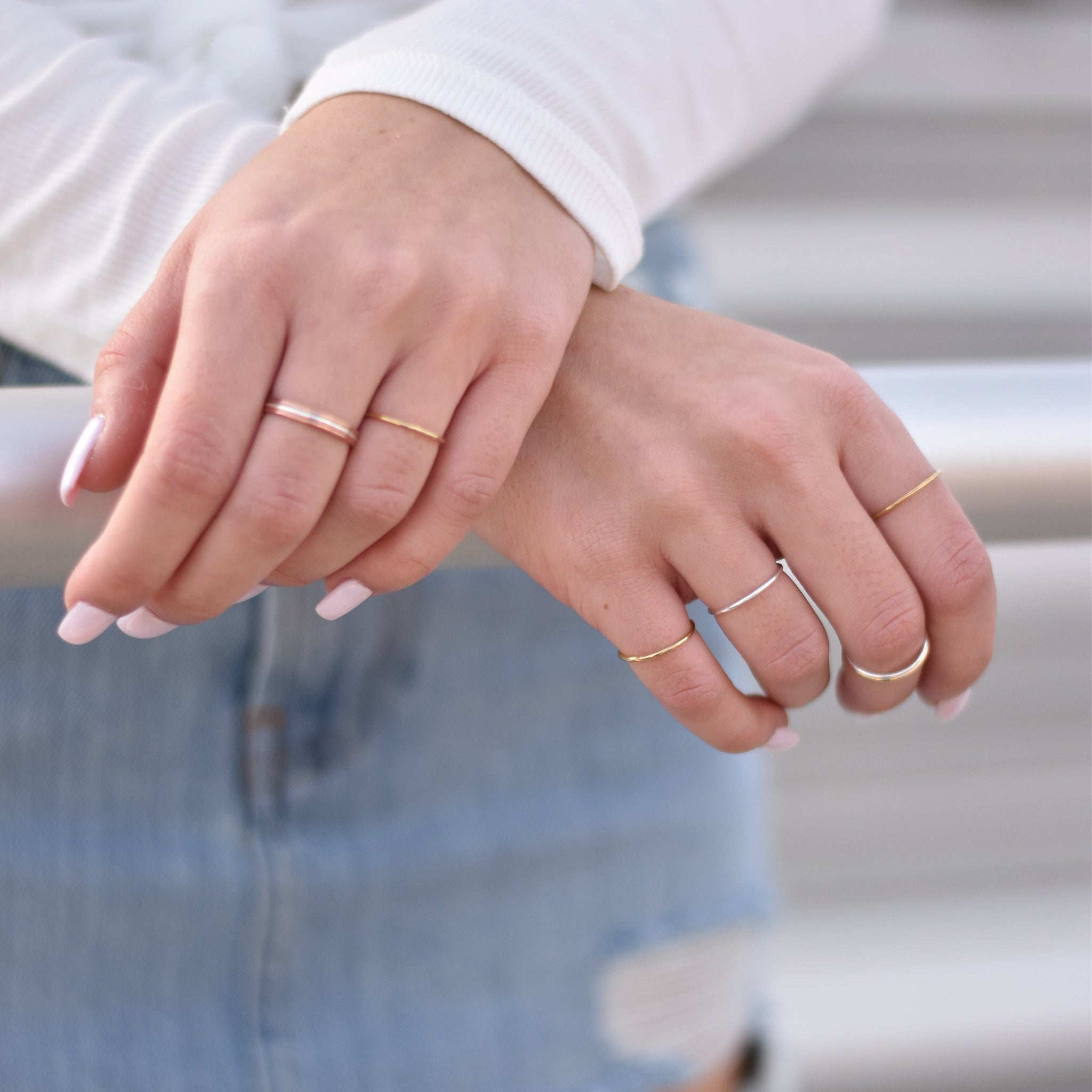 Stackable Gold Filled Ring - Nikki Smith Designs