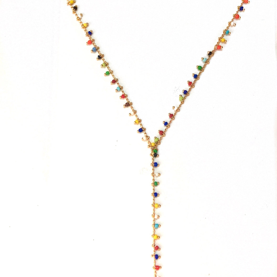 New Mexico Multi Beaded Charm Lariat