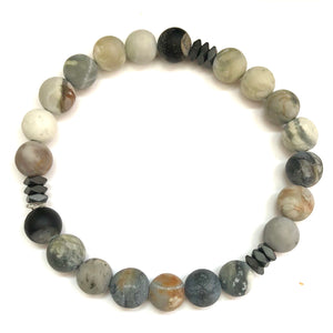Showcase Men's Beaded Stone Bracelet - Nikki Smith Designs