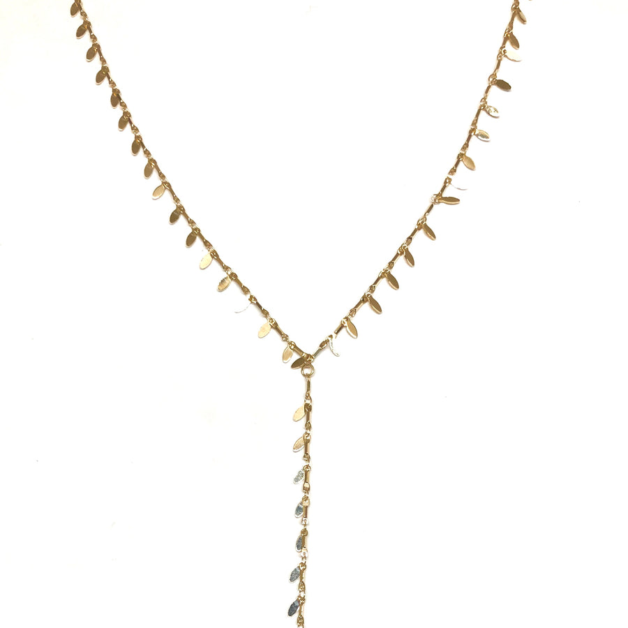 Libby Golden Lariat - Nikki Smith Designs