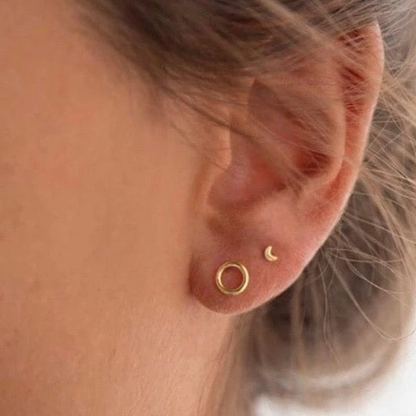 Golden Micro Studs - Nikki Smith Designs
