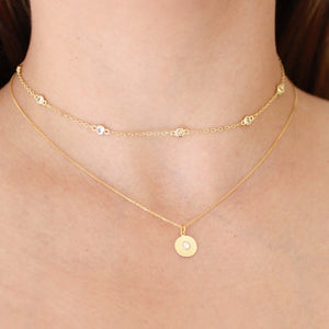 Golden Mini Charm Necklaces - Nikki Smith Designs