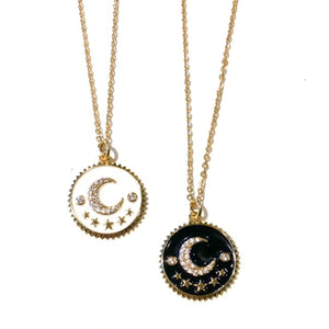 Midlength 2 Moons Necklace