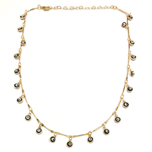 third eye/evil eye navy choker necklace
