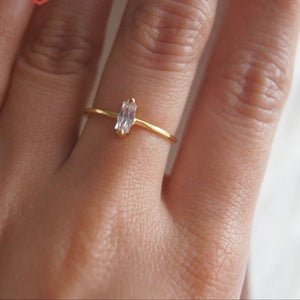 Gold Crystal Ring - Nikki Smith Designs