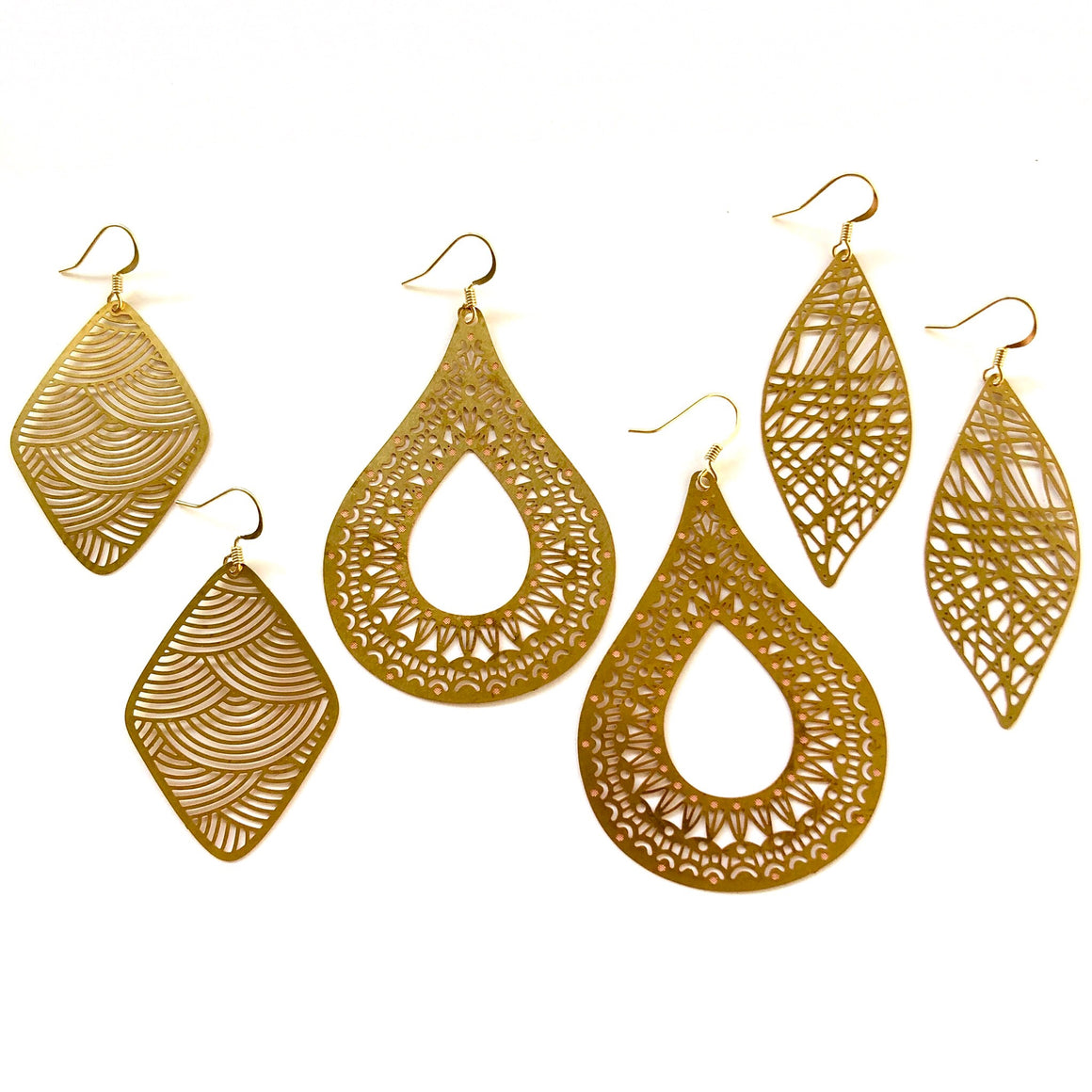 Jenn Golden Earrings - Nikki Smith Designs