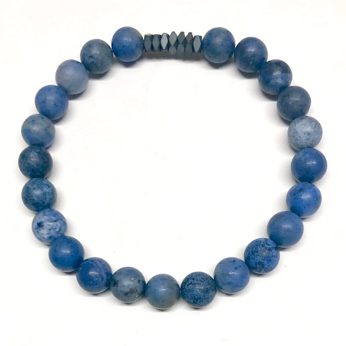 Rio Men's Beaded Stone Bracelet