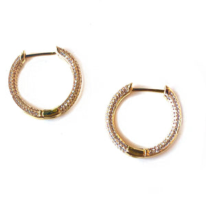 Gwen Crystal Hoops - Nikki Smith Designs