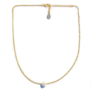 Floating Pearl Necklace - Nikki Smith Designs