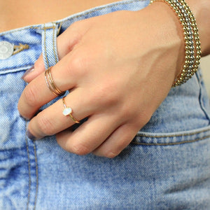 Oval Opal Adjustable Ring