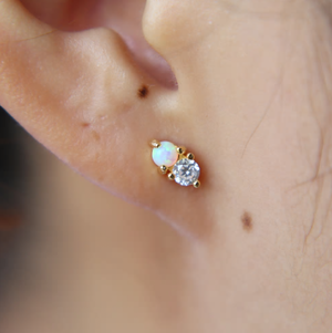 Opal Cluster Studs