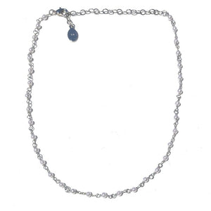 Mini Pearl Choker-Silver - Nikki Smith Designs