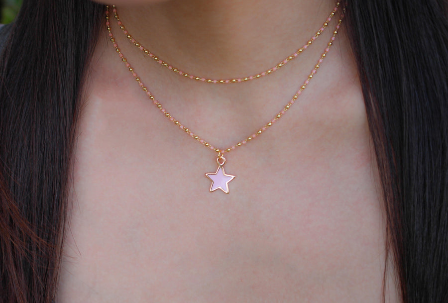 Pink Star Necklace