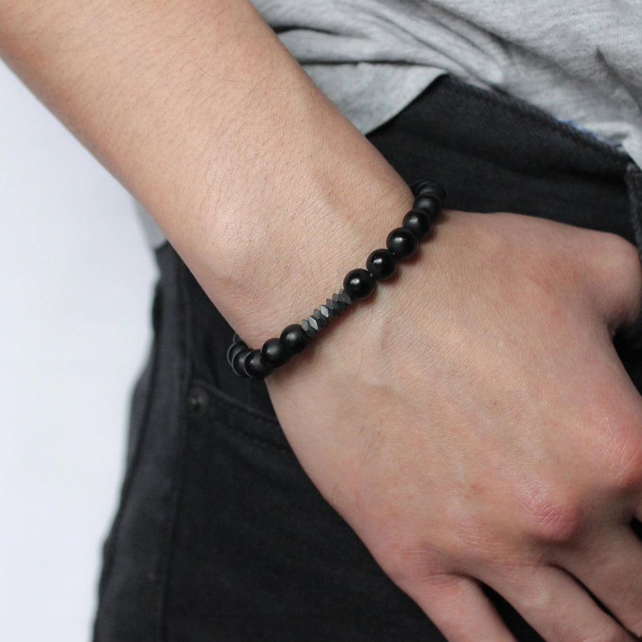 Promenade Men's Beaded Stone Bracelet - Nikki Smith Designs
