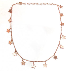 rose gold star choker necklace