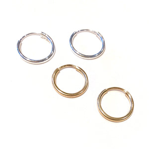 Mini Hoop Hugger Earrings-Gold Filled or Sterling Silver