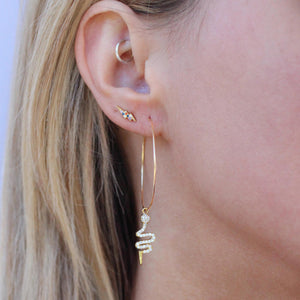 Crystal Cobra Hoops - Nikki Smith Designs
