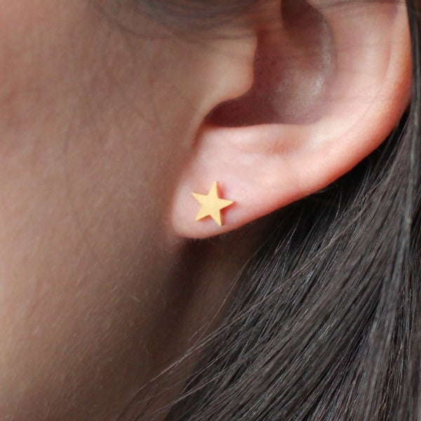 Smooth Star Studs - Nikki Smith Designs