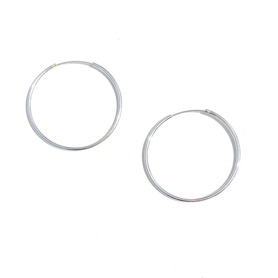 Sterling Silver Hoops - Nikki Smith Designs