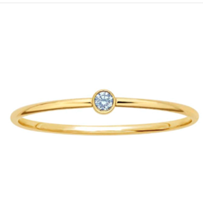 Blue Topaz Stackable Gold Ring - Nikki Smith Designs