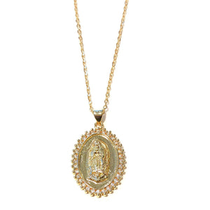 Midlength St. Mary Necklace - Nikki Smith Designs