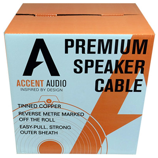 2 Core Premium 14 Gauge Speaker Cable per metre