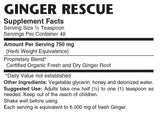 Ginger Rescue Syrup - Sense of Balance Wellness LLC  - 2