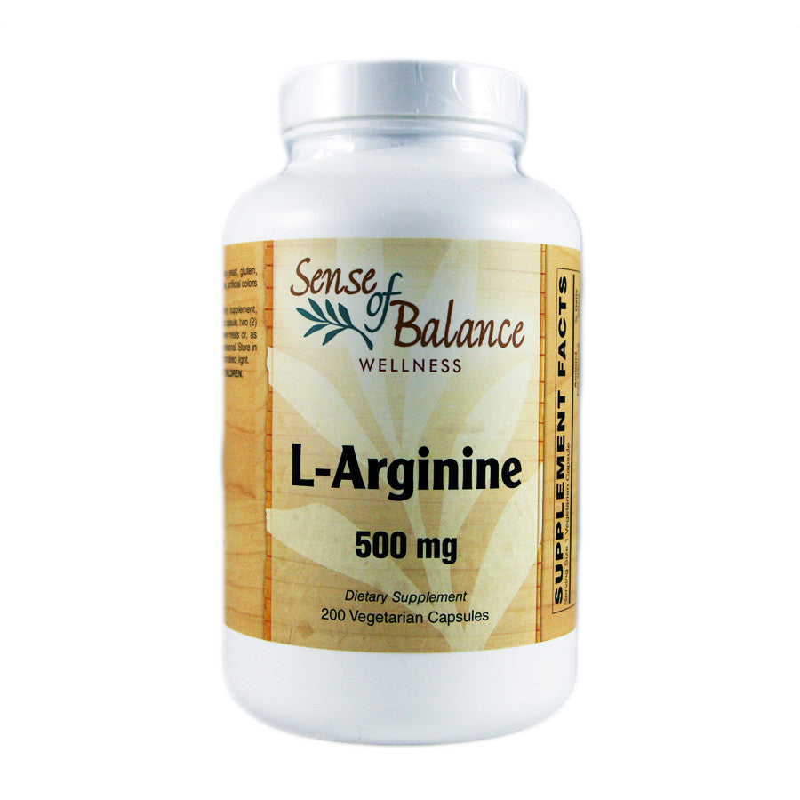 L-Arginine 500 mg - Sense of Balance Wellness LLC  - 1