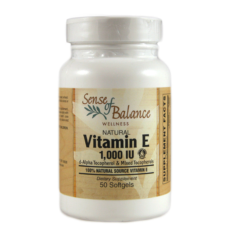 Vitamin E 1,000iu - Sense of Balance Wellness LLC  - 1