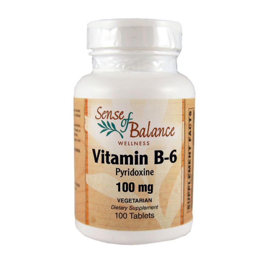 Vitamin B-6 100mg - Sense of Balance Wellness LLC  - 1