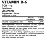 Vitamin B-6 100mg - Sense of Balance Wellness LLC  - 2