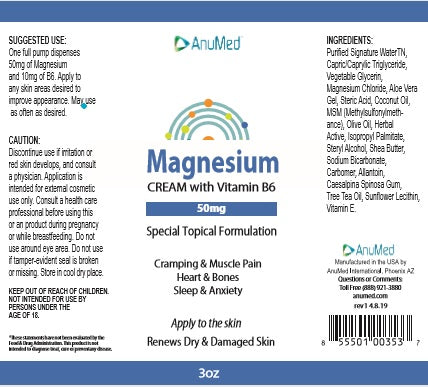 Magnesium Cream with Vitamin B6