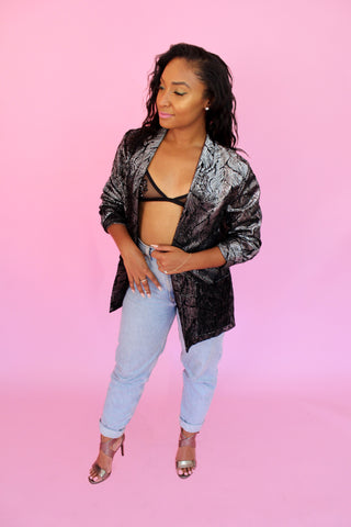 Metallic Abstract Blazer