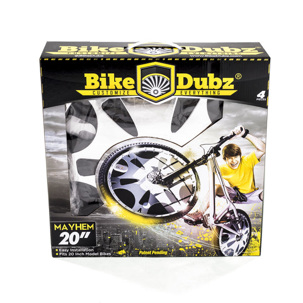 BIKEDUBZ MAYHEM - 20 INCH BICYCLE WHEEL COVERS (UNIVERSAL FIT)