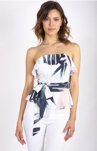 Tropical Strapless Top