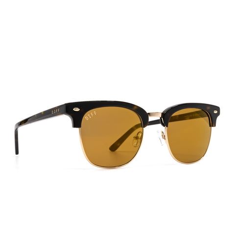 Blair sunglasses with dark tortoise frames and gold mirror lens product image