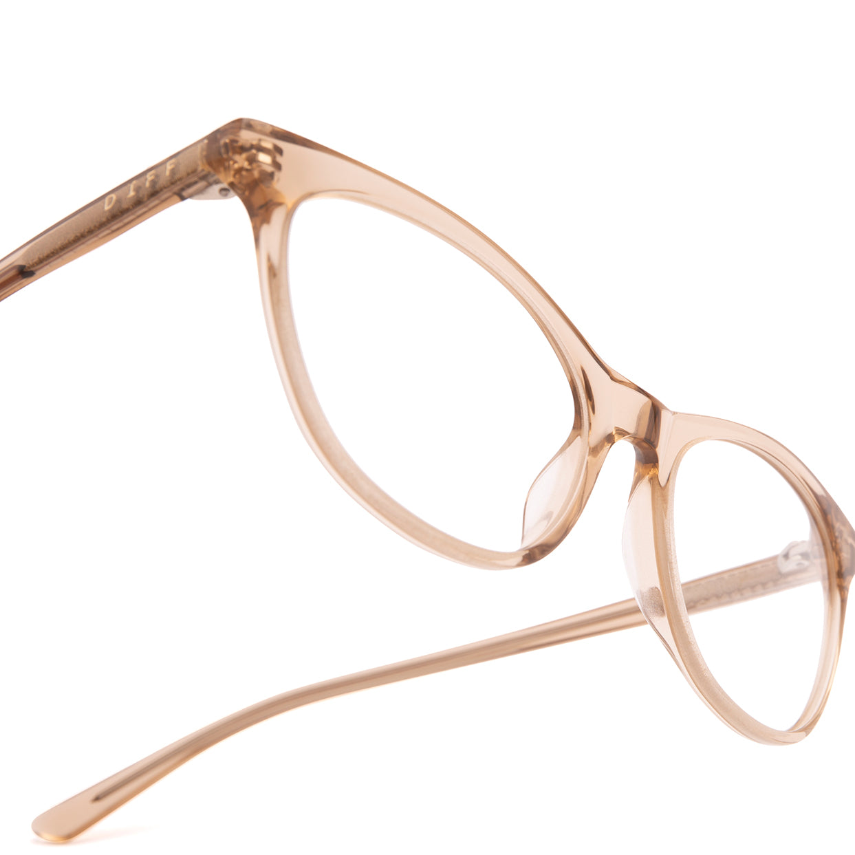 Product shot of Jade Vintage Crystal prescription eyeglasses