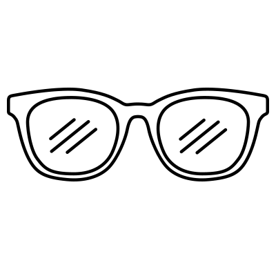 Glasses with clear lens