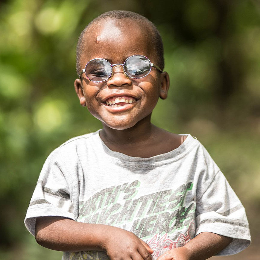 Boy with glasses provided by Sightsavers