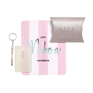 Cleaning Care Kit - Pink and White Stripes