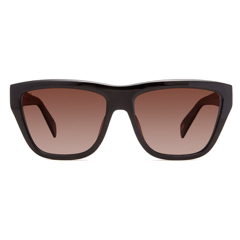 Harper Black Frame Sunglasses with Brown Polarized Lenses