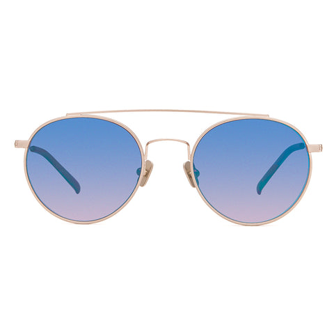 JESSIE JAMES DECKER - SKYE + BRUSHED GOLD + BLUE GRADIENT FLASH POLARIZED
