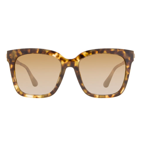 Square Sunglasses - BELLA - Moss Havana
