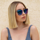 becky brushed silver taupe flash angle on female