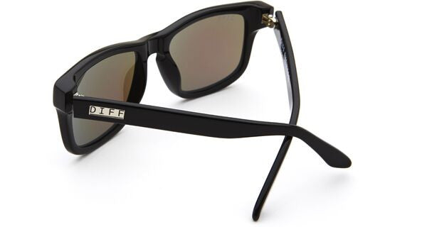 RILEY - BLACK FRAME - BLUE MIRROR LENS - DIFF Eyewear  - 4