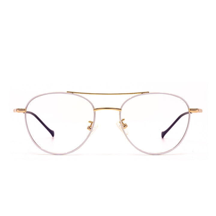 Aiden white and gold prescription front