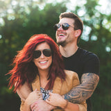 CHELSEA HOUSKA - AVIATOR + GOLD + BROWN GRADIENT