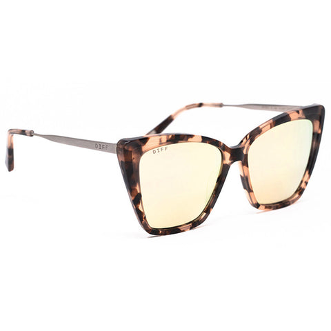 BECKY II - HIMALAYAN TORTOISE + TAUPE FLASH MIRROR POLARIZED