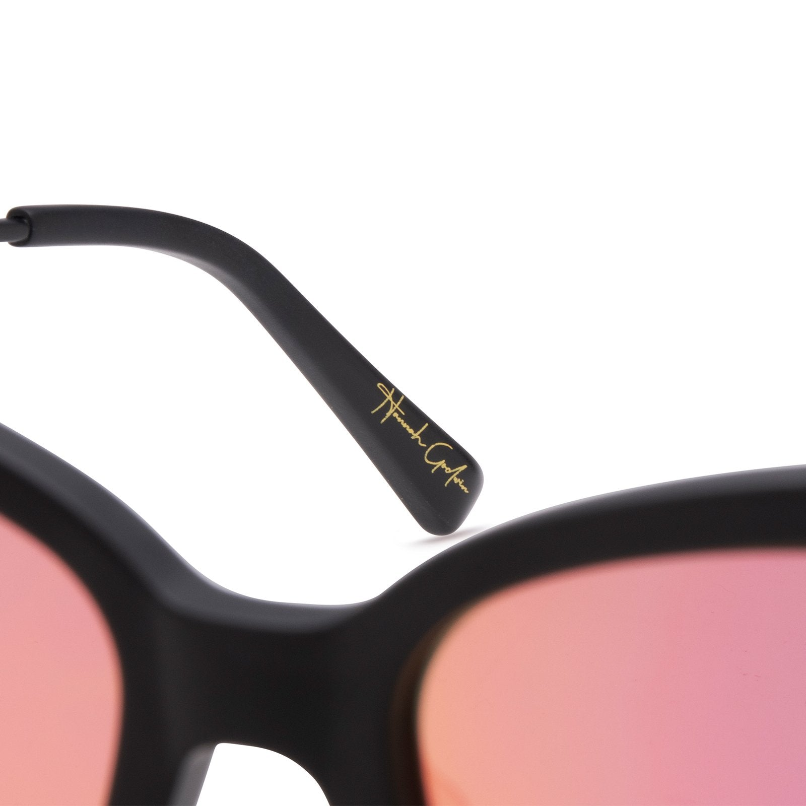 Hannah Godwin Becky II Black and Pink Mirror Polarized with signature