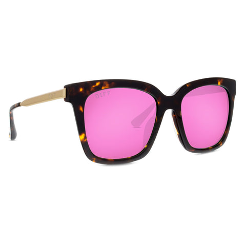 BELLA - TORTOISE + PINK MIRROR + POLARIZED